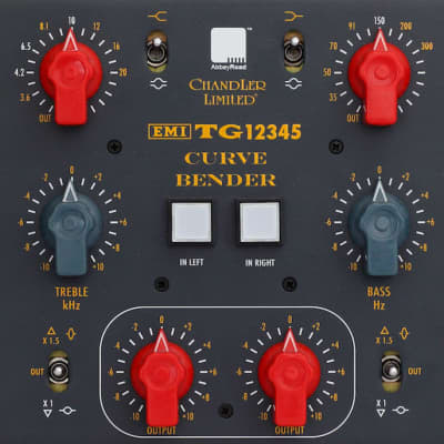 New Chandler Limited TG12345 Curve Bender Dual/Mono EQ, 3-space Rackmount EMI/Abbey Road Studios