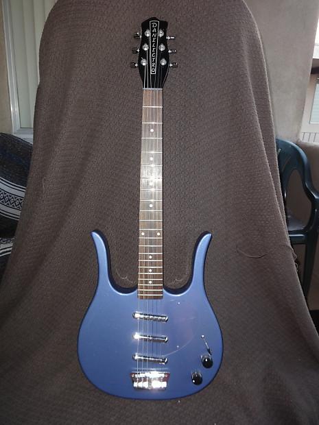 danelectro longhorn guitar 2006 blue reverb. Black Bedroom Furniture Sets. Home Design Ideas