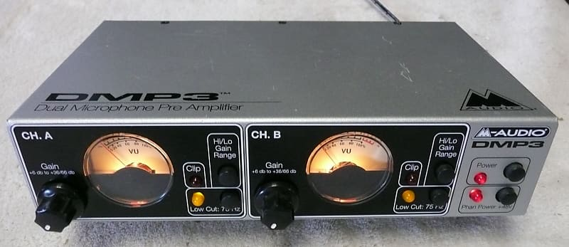 M AUDIO DMP3 Dual 2 Channel Microphone Preamplifier - Sounds / Works /  Great - Very Good Condition