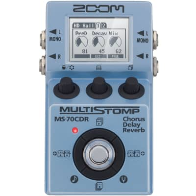 Zoom MS-70CDR Multistomp Pedal with Chorus, Delay, and Reverb