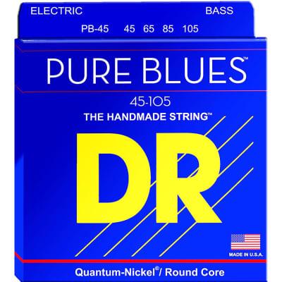 DR Strings PURE BLUES Quantum-Nickel Guitar Strings Medium 45, 65, 85, 105