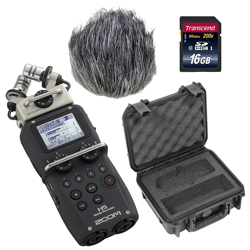Zoom H5 Four-Track Portable Digital Voice Recorder with Windscreen, SKB  Case & 16GB SD Card