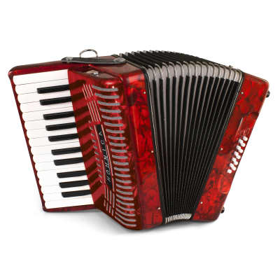 Hohner 1303-RED 12 Bass Entry Level 37-Key Piano Accordion