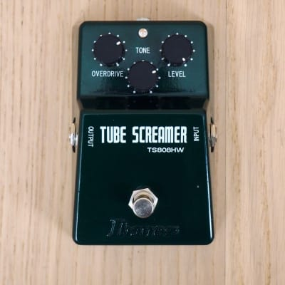 Ibanez TS-808HW Hand Wired Tube Screamer Overdrive Pro Guitar Effects Pedal, JRC4558