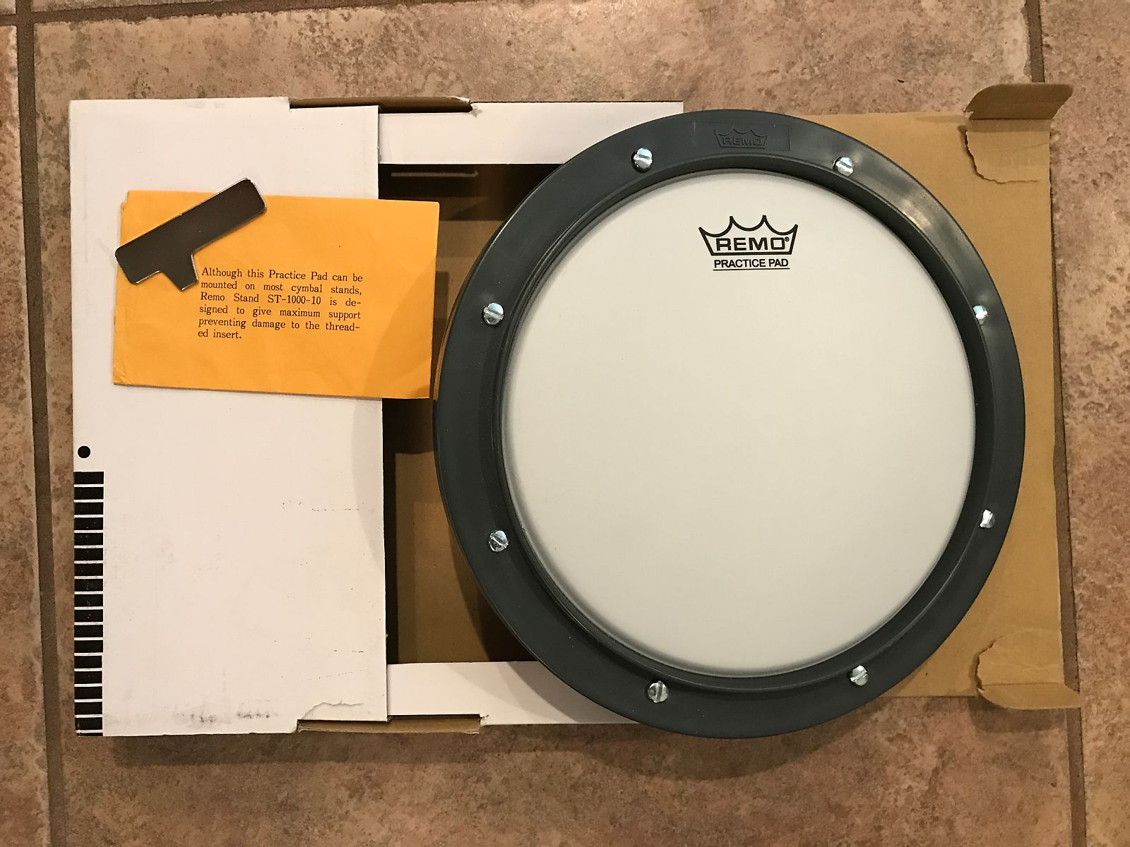 remo practice pad tunable ambassador coated drum head w reverb. Black Bedroom Furniture Sets. Home Design Ideas