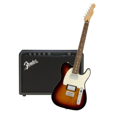 Fender Player Telecaster HH 3 Tone Sunburst Pau Ferro  & Fender Mustang GT 40 Bundle for sale
