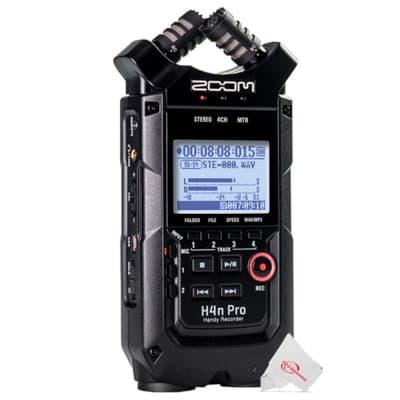 Zoom H4n Pro 4-Input / 4-Track Digital Portable Audio Handy Recorder With Onboard X/Y Mic Capsule (Black)
