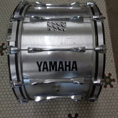"""Used Yamaha Marching Bass Drum 22"""" x 12"""" Silver"""