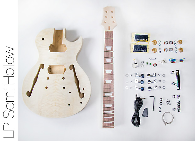 Do it yourself diy electric guitar kit les paul style reverb do it yourself diy electric guitar kit les paul style hollow body build your own solutioingenieria Gallery