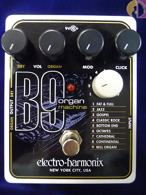 electro harmonix b9 organ machine effect pedal reverb. Black Bedroom Furniture Sets. Home Design Ideas