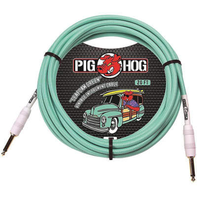 Pig Hog Instrument Cable 20 ft. Seafoam Green, PHC20SG