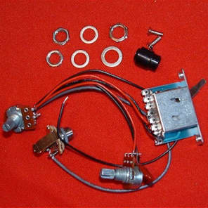 Guitar Parts TELECASTER Tele WIRING HARNESS KIT - 1 Vol 1 Tone 3Way Switch Mono Jack