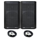 "PEAVEY Dark Matter DM 112 12"" Powered/Active 2-Way DJ PA Speaker 03614480, PAIR w/ 20' XLR Cables image"