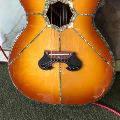 Hand Made Century Custom mother of pearl inlayed Acoustic Guitar Sunburst W/ Fishman Electronics for sale