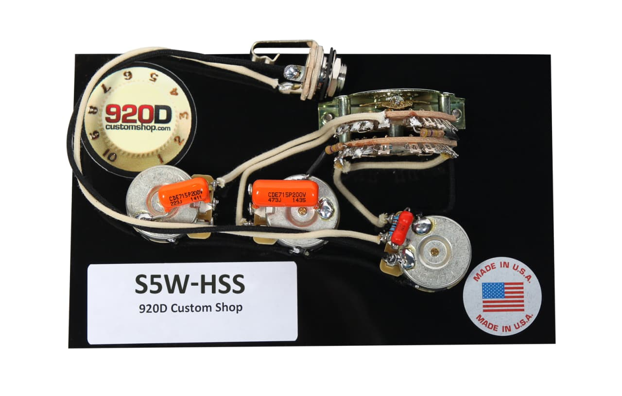 920d Custom Shop Hss Wiring Harness W   5 Way Super Switch