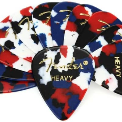Fender 351 Shape Premium Picks Medium Confetti