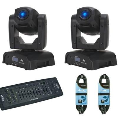 2x American DJ Pocket Pro + DMX Controller + Cables