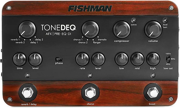 fishman tonedeq guitar bass preamp eq di w xlr out free reverb. Black Bedroom Furniture Sets. Home Design Ideas