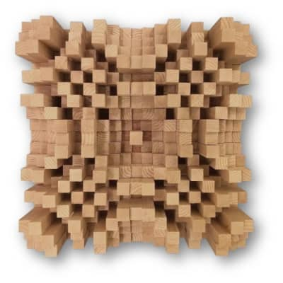 DIY 19x19 Acoustic Wood N19 QRD Quadratic Skyline Sound Diffuser Treatment Panel Studio
