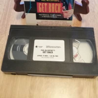 VHS Vintage Artist 1991--Paul McCartney--Get Back