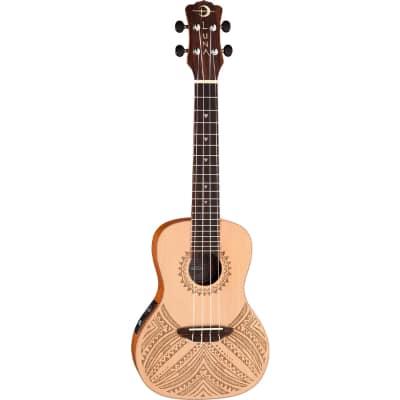 Luna Guitars Uke Tapa Concert A/E Solid Spruce Top w Gigbag