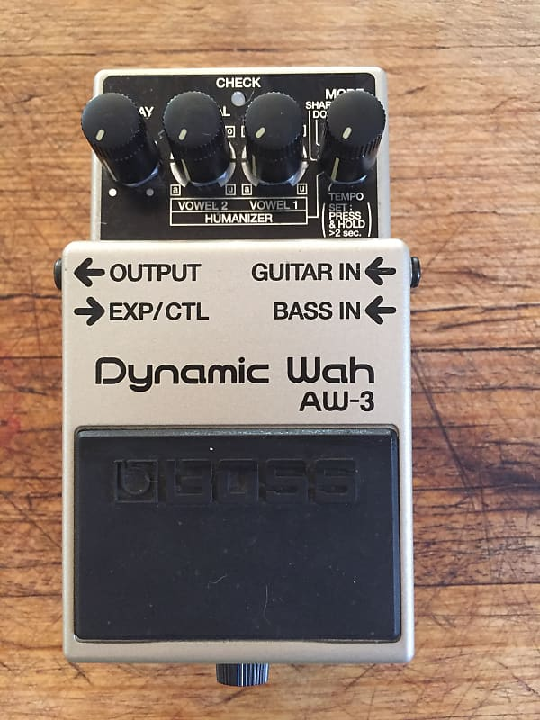 boss aw 3 dynamic wah pedal gary young reverb. Black Bedroom Furniture Sets. Home Design Ideas