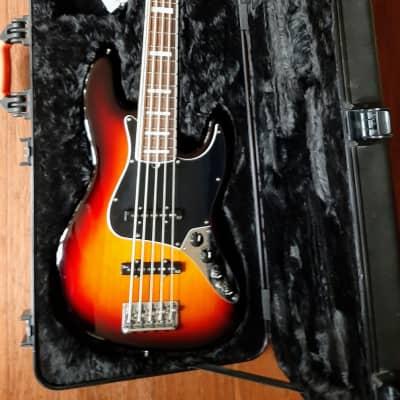 Fender American Deluxe V Jazz Bass 2013 3 Tone Sunburst for sale