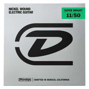 Dunlop DESBN1150 Super Bright Nickel Wound Electric Guitar Strings - Medium Heavy (11-50)