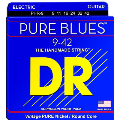 DR Strings Pure Blues PHR-9 Light Electric Guitar Strings