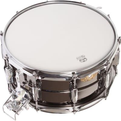 "Ludwig LB419 Black Beauty Super-Sensitive 6.5x14"" Brass Snare Drum 1994 - 2016"