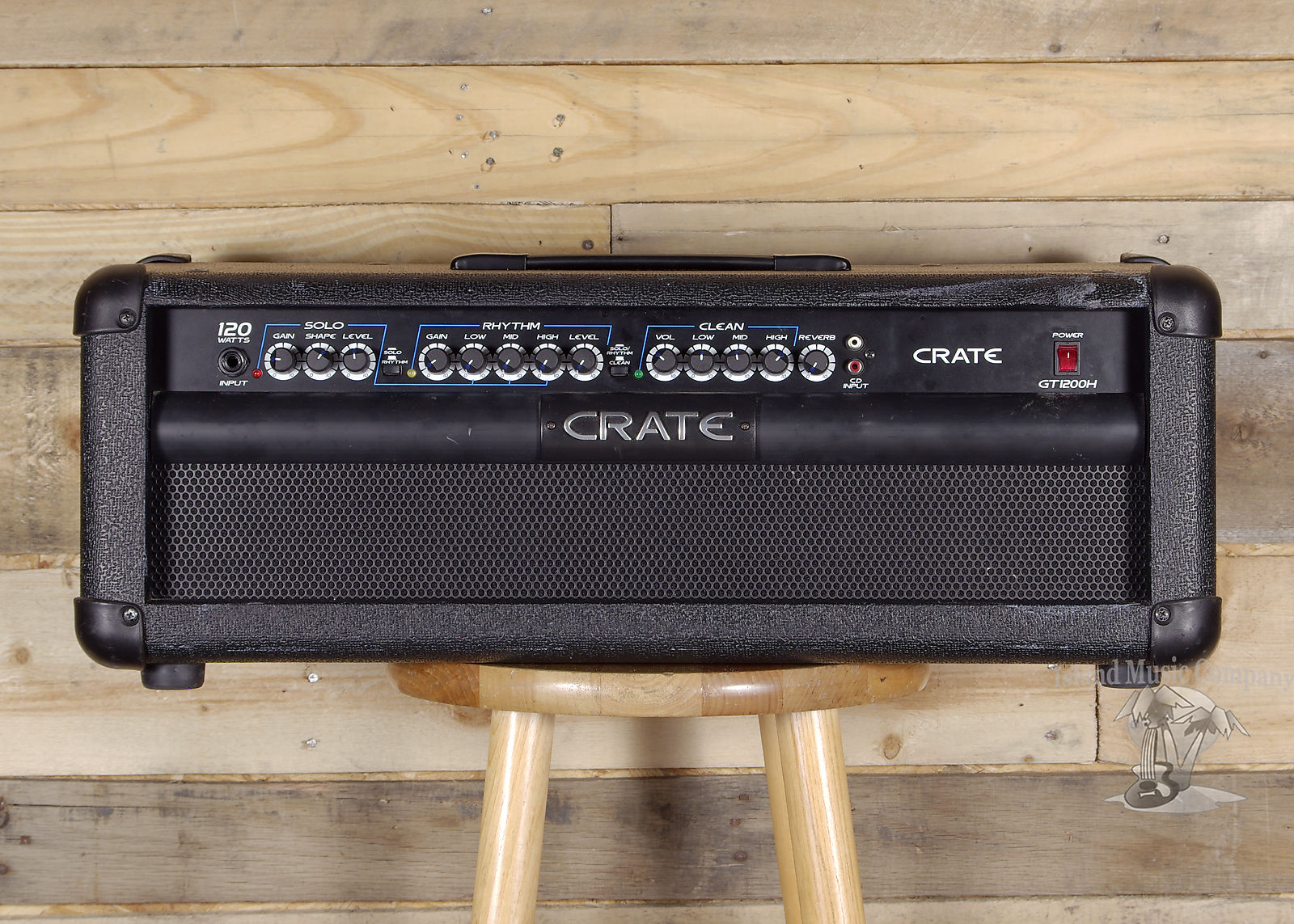 crate gt1200h 3 channel 120 watt solid state guitar amp head reverb. Black Bedroom Furniture Sets. Home Design Ideas