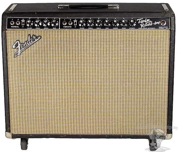 fender 1974 twin reverb guitar combo amplifier with cover reverb. Black Bedroom Furniture Sets. Home Design Ideas