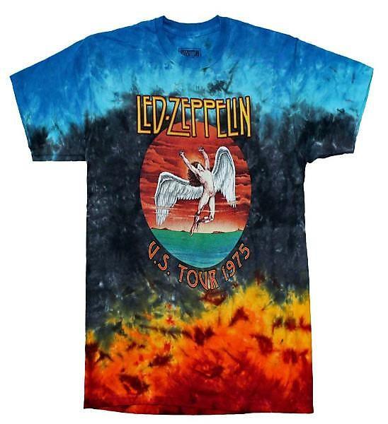 729eec68452 Led Zeppelin Icarus 1975 Tie Dye T-Shirt - Small
