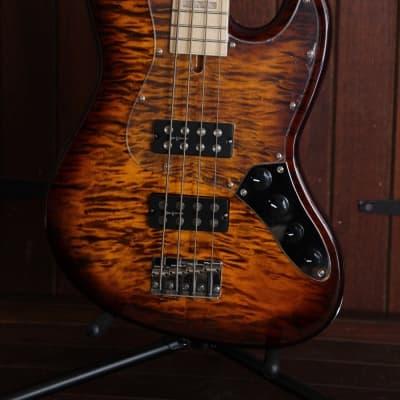 Revelation RBN Figured Top Jazz Bass Sunburst for sale