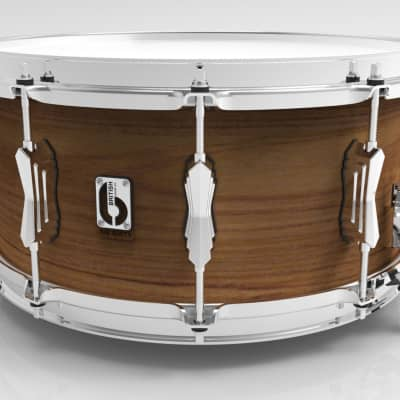 """British Drum Company BS-1465-SN 14 x 6.5"""" Big Softy Snare, Tulip & Cherry 7.5 mm Blended Shell"""