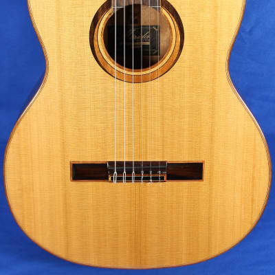 Merida Trajan T-15 Natural Solid Cedar Top Classical Nylon Acoustic Guitar for sale