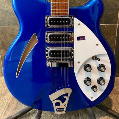 Magnificent Made in America 2001 Rickenbacker 370/12 Midnight Blue OHSC (512) for sale
