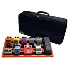 Gator Cases GPB-BAK-OR Large Pedal Board with Carry Bag - British Orange