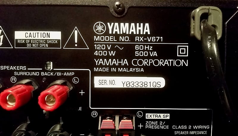 Yamaha Rx V671 Audio Video Receiver 2011 Black
