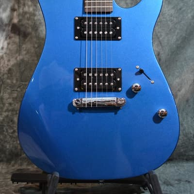 Canvas CMF Modern Contemporary Dual Humbucker Solidbody Electric Blue w FAST Same Day Shipping for sale