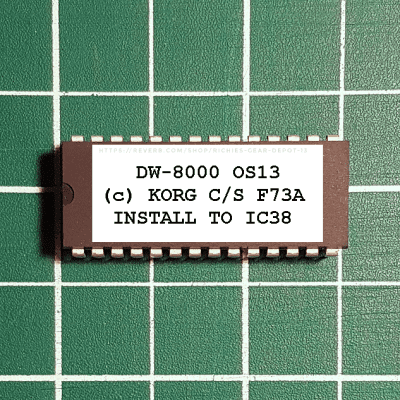 Korg  DW-8000  OS 13 Final EPROM Firmware Upgrade Kit