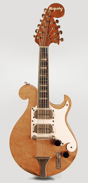 Bigsby 10 String Solid Body Electric Mandolin 1951 Natural