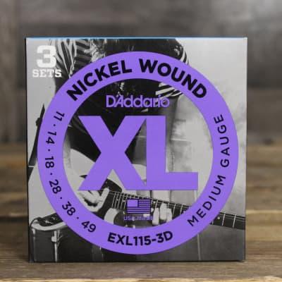 D'Addario EXL115-3D Strings 3pk