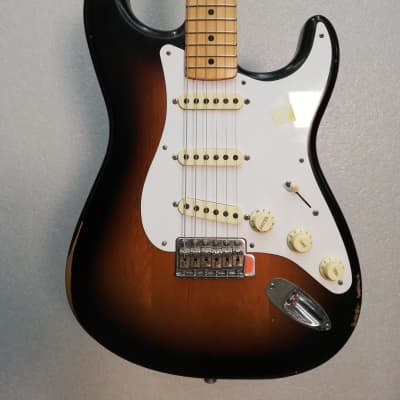 fender stratocaster road worn 50s 2 color sunburst for sale