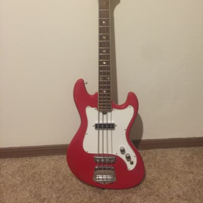 Telestar Short Scale Bass Guitar 1970s Red for sale