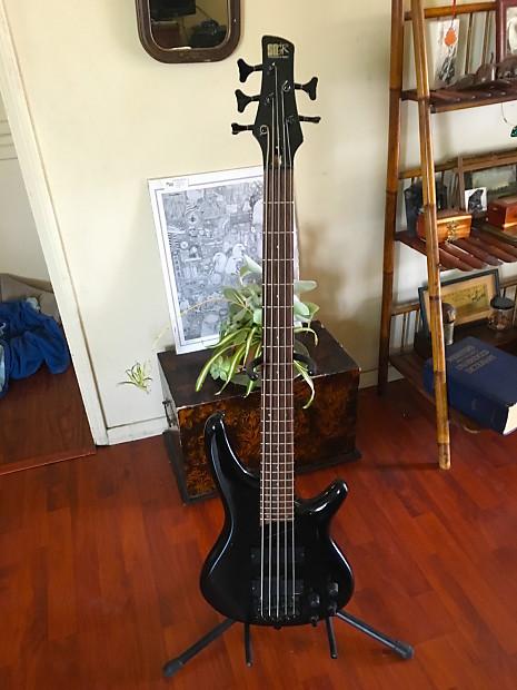 ibanez sdgr 1998 5 strings bass black with hardshell case reverb. Black Bedroom Furniture Sets. Home Design Ideas