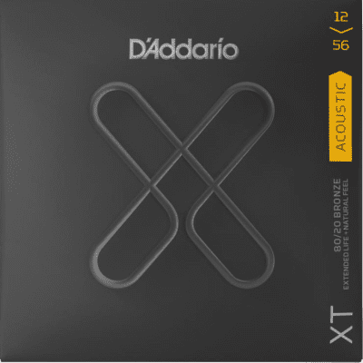 D'Addario XTABR1256 XT Acoustic 80/20 Bronze, Light Top/Medium Bottom, 12-56 2019