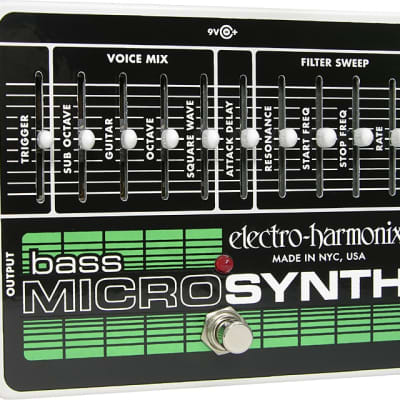 New Electro-Harmonix EHX Bass Microsynth Analog Micro Synthesizer!
