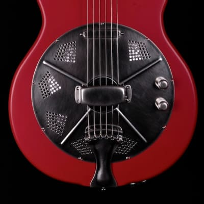 National ResoTone Single Cone Solid Body Resolectric Red for sale