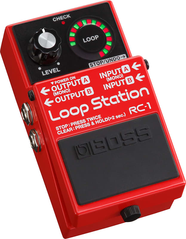 boss rc 1 loop station guitar effects pedal new rc 1 reverb. Black Bedroom Furniture Sets. Home Design Ideas